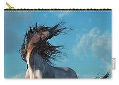 Carry-all Pouch featuring the digital art Wild Roan by Daniel Eskridge