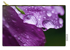 Carry-all Pouch featuring the photograph Wild Rose Droplet by Darcy Michaelchuk