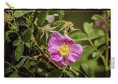 Carry-all Pouch featuring the photograph Wild Roses Of Summer by Yeates Photography