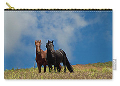 Wild Stallions Together Carry-all Pouch