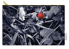 Carry-all Pouch featuring the photograph Wild Strawberry by Iowan Stone-Flowers