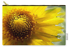 Wild Sunflower Up Close Carry-all Pouch