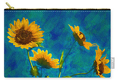 Wild Sunflowers Singing Carry-all Pouch