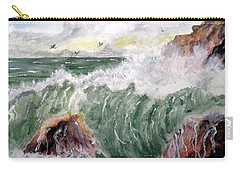 Wild Surf Waves Carry-all Pouch