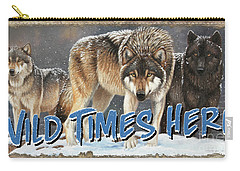 Wild Times Here Carry-all Pouch