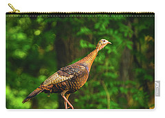 Wild Turkey Profile On Rooftop Carry-all Pouch