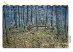 Wild Turkeys In Forest Version Two Carry-all Pouch by Randy Steele