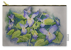 Wild Violets Carry-all Pouch by Marilyn Zalatan