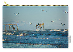 Wild Waves At Nags Head Carry-all Pouch