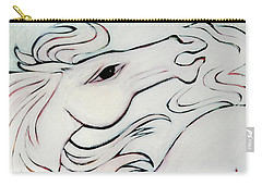 Wild White Carry-all Pouch