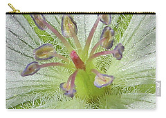 Carry-all Pouch featuring the photograph Wild White Geranium  by Ann E Robson