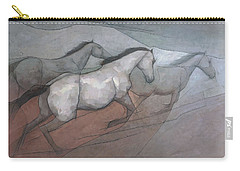 Wild White Horses Carry-all Pouch