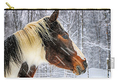 Wild Winter Storm Carry-all Pouch by Elizabeth Dow