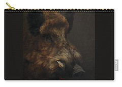 Wildboar Portrait Carry-all Pouch