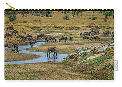 Wildebeest In The Tarangire Carry-all Pouch