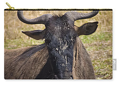 Wildebeest Taking A Break Carry-all Pouch by Darcy Michaelchuk