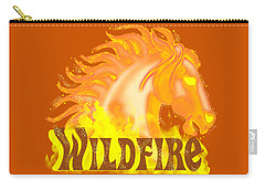 Carry-all Pouch featuring the mixed media Wildfire by J L Meadows