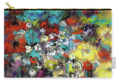 Wildflower Field Carry-all Pouch by Frances Marino