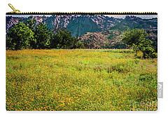 Wildflower Field In The Wichita Mountains Carry-all Pouch by Tamyra Ayles