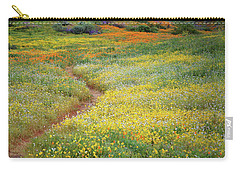 Carry-all Pouch featuring the photograph Wildflower Field Near Diamond Lake In California by Jetson Nguyen