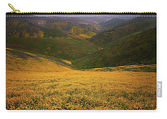 Wildflower Field Up In The Temblor Range At Carrizo Plain National Monument Carry-all Pouch