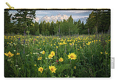Wildflower Meadow In The Tetons Carry-all Pouch