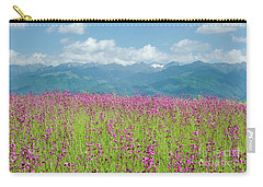 Wildflower Meadows And The Carpathian Mountains, Romania Carry-all Pouch