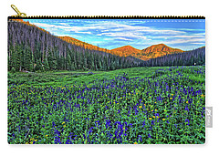 Carry-all Pouch featuring the photograph Wildflower Park by Scott Mahon