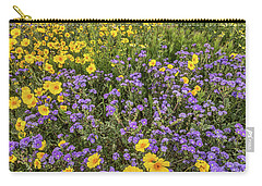 Carry-all Pouch featuring the photograph Wildflower Super Bloom by Peter Tellone