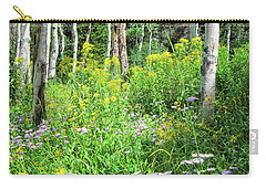 Wildflowers And Aspens Carry-all Pouch