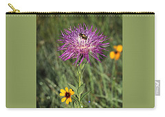 Carry-all Pouch featuring the photograph Wildflowers And Friend by Sheila Brown