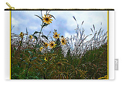 Carry-all Pouch featuring the photograph Wildflowers And Mentor Marsh by Joan  Minchak