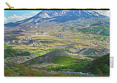 Wildflowers And Mt. St. Helens 4 Carry-all Pouch