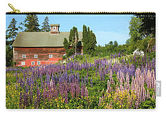 Wildflowers And Red Barn Carry-all Pouch by Roupen  Baker