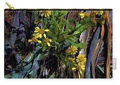 Wildflowers And Wood Carry-all Pouch by Aliceann Carlton