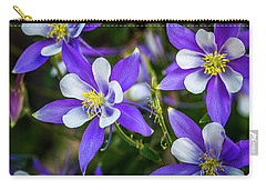 Wildflowers Blue Columbines Carry-all Pouch by Teri Virbickis