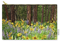 Balsamroot And Lupine In A Ponderosa Pine Forest Carry-all Pouch