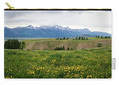 Wildflowers In The Grand Teton National Park Carry-all Pouch by Serge Skiba