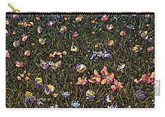 Carry-all Pouch featuring the painting Wildflowers by James W Johnson