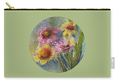 Carry-all Pouch featuring the painting Wildflowers by Mary Wolf