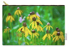 Carry-all Pouch featuring the photograph Wildflowers Of Yellow by Bill Pevlor