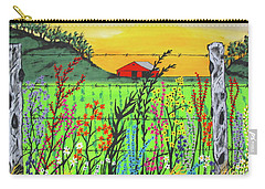 Wildflowers On The Farm Carry-all Pouch