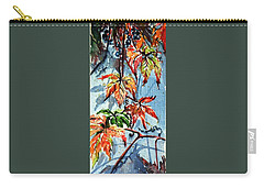 Carry-all Pouch featuring the painting Wildgrape by Kovacs Anna Brigitta