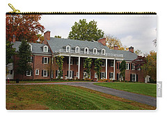 Carry-all Pouch featuring the photograph Wildwood Manor House In The Fall by Michiale Schneider