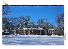Carry-all Pouch featuring the photograph Wildwood Manor House In The Winter by Michiale Schneider
