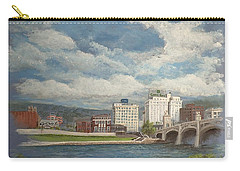 Carry-all Pouch featuring the painting Wilkes-barre And River by Christina Verdgeline