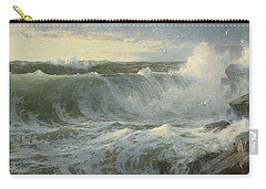 Carry-all Pouch featuring the painting William Trost Richards American 1833  1905   Seascape by Artistic Panda