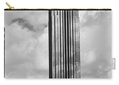 Williams Tower In Black And White Carry-all Pouch