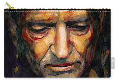 Willie Nelson Portrait 2 Carry-all Pouch by Laur Iduc