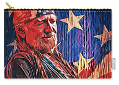 Willie Nelson Carry-all Pouch by Taylan Apukovska